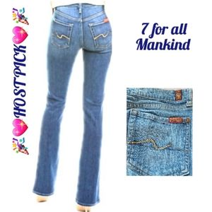 7 For All Mankind Iconic jeweled Bootcut Jeans